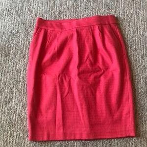 Banana Republic pink pencil skirt size 10